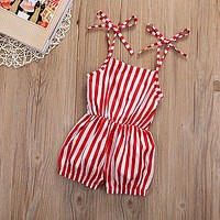 New Style Girls Clothes Summer Sleeveless Dress Holiday Beach Jumpsuit Playsuit One Pieces 2-7Y