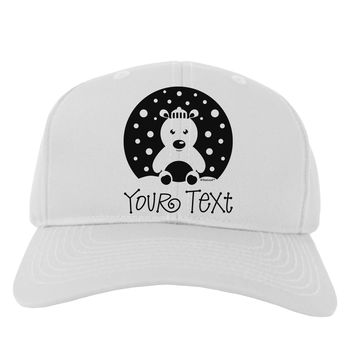 Personalized Matching Polar Bear Family Design - Your Text Adult Baseball Cap Hat