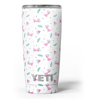 The Pink and Teal Watermenlon Cocktail - Skin Decal Vinyl Wrap Kit compatible with the Yeti Rambler Cooler Tumbler Cups
