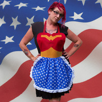 Wonder Woman Apron Cosplay Costume Hero