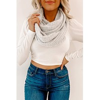 Won't Forget Her Infinity Scarf (Light Grey)