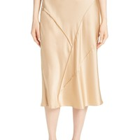 Vince Raw Edge Bias Silk Skirt | Nordstrom