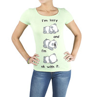 Girls 'Panda Lazy' Graphic Tee
