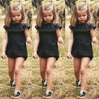 Fashion Baby Girls Kids Clothes Playsuit Jumpsuit Summer Sunsuit Outfit