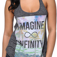 Empyre Girls Infinity Charcoal Racerback Tank Top