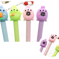 Molang Pens, Colorful Rabbits, Sweet Bunny, Carrot, Donut, Cookie, Pink Bunny