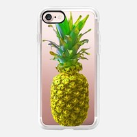 Atomic Yellow Pineapple iPhone 7 Case by Lisa Argyropoulos | Casetify