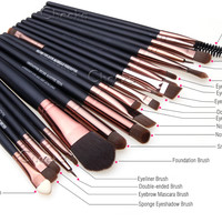 New Makeup 20pcs Brushes Set Soft Powder Foundation Eyeshadow Eyeliner Lip Brush