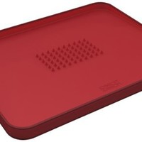 Joseph Joseph Large Cut and Carve Plus Multi-Function Chopping Board, Red