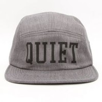 The Quiet Life, Big Text 5 Panel Hat - Grey - Headwear - MOOSE Limited