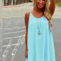 Beach Fluorescent Summer Dress
