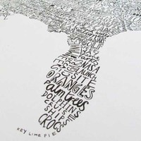 Hand-Illustrated Word Map of The USA