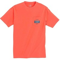 Predator Series Hammerhead Tee Shirt in Hot Coral by Southern Tide