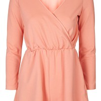 **Wrap Front Playsuit by Glamorous - Topshop