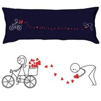 """BoldLoft """"All My Love for You"""" Body Pillowcase (Dark Blue)-Romantic Valentines Gifts for Couples,Cute Birthday Gifts for Him & Her,Christmas Gifts for Him & Her,Romantic Anniversary Gifts"""