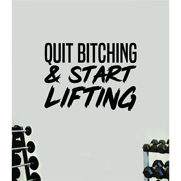 Start Lifting Quote Wall Decal Sticker Vinyl Art Wall Bedroom Room Home Decor Inspirational Motivational Sports Lift Gym Fitness Girls Train Beast