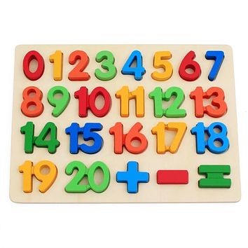 Wooden Math Arithmetic Number Puzzles For Toddlers Educational Preschool Toys Teaching Tool Development Recognition Intelligence Toys Jigsaw Kids Gift