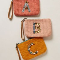 Gem Monogrammed Wristlet by Miss Albright Assorted D Clutches