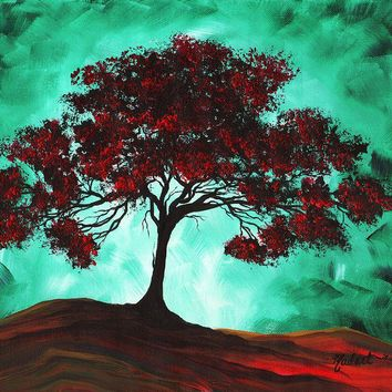 Abstract Art Original Colorful Tree Painting PASSION FIRE by MADART Painting by Megan Duncanson - Abstract Art Original Colorful Tree Painting PASSION FIRE by MADART Fine Art Prints and Posters for Sale