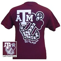 New Texas A&M Aggies Anchor Bow Girlie Bright T Shirt