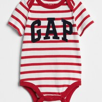 Stripe Logo Bodysuit | Gap