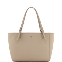 York Saffiano Leather Tote Bag, French Gray - Tory Burch