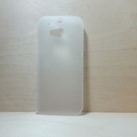 HTC One M8 super slim hard plastic case - Frosted White