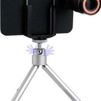 HHI Camera Kit with 8X Camera Zoom Lens with Mini Tripod and Special Case for iPhone 4 and iPhone 4s (Package include a HandHelditems Sketch Stylus Pen)