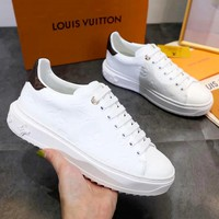LV 2019 new women's casual wild white shoes