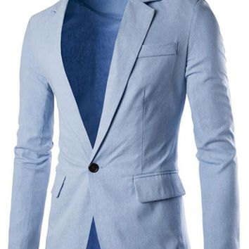 Slim Fit Basic Blazer