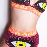 Yellow and Pink Evil Eye Bra