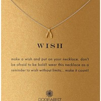 """Dogeared """"Reminder"""" Wishbone Chain Necklace, 16"""""""