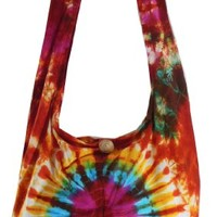 Tie Dye Bohemian Sling Cross body Shoulder Hippie Boho Hobo Messenger Bag HT174:Amazon:Clothing