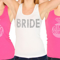 Ring Security Bachelorette Party Rhinestone Tank Tops, Bachelorette Supplies, Bachelorette Shirts