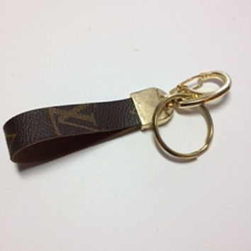 Louis Vuitton, Vuitton, Recycled, Reworked, Upcycled, Repurposed, Louis Vuitton Keychain, Key Fob, Gold Keychain, Keepall, Neverfull