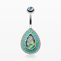 Classic Chakra Opal Belly Button Ring
