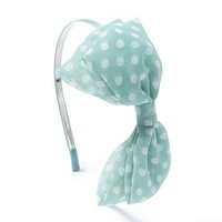 Polka Dot Bow Headband  | Claire's