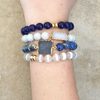 Stackable Druzy Accent Bracelets