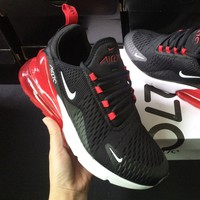 NIKE Air Max 270 Hot Sale Trending Men and Women Fashion Splicing Color Sneakers B-CSXY / B-CQ-YDX Black&Red