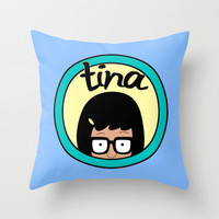 Tina Throw Pillow by Page394 | Society6