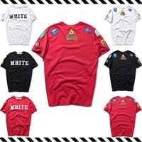 Fashion Men's Fashion Summer Simple Design Embroidery Round-neck Short Sleeve T-shirts [1319139508308]
