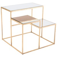 Labels Multi-tiered Accent Table Gold