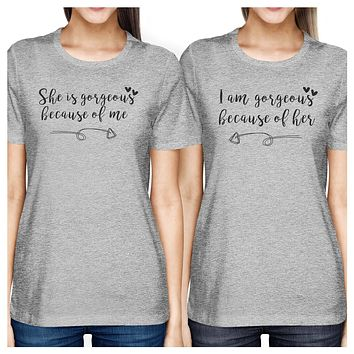 She Is Gorgeous Gray Matching Graphic T-Shirts Funny Gifts For Moms