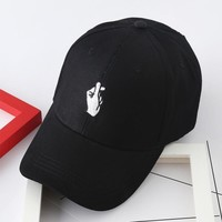 summer finger caps style lady korean pink Dad Hat white polo caps 2017 girls fashion s