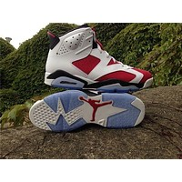 Air Jordan 6 Retro Carmine Basketball Shoes