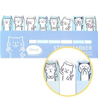 Illustrated Cartoon Kitty Cat Shaped Animal Themed Memo Post-it Index Sticky Bookmark Tabs
