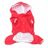 5 Colors Raincoat for dogs Fashion Pet Rain Coat Jacket Clothes for dogs