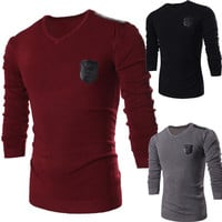 Men's Slim Fit New Style V Neck Knit Sweater