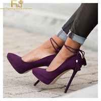 Women's Purple Stiletto Heels