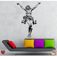 Wall Stickers Vinyl Decal Gothic Christ Jesus Holy Cross Religion Symbol Unique Gift (z2156)